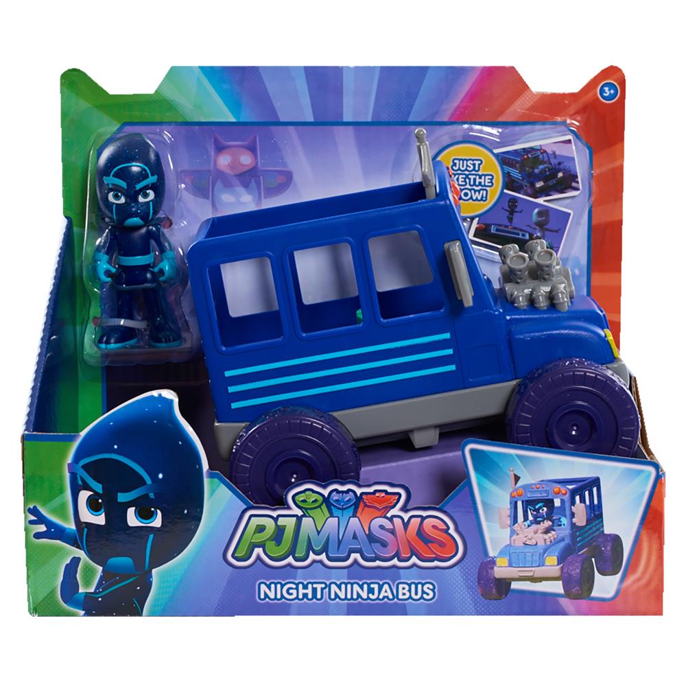24575- PJ Masks Vehicle Assortment- Night Ninja Bus- In Package