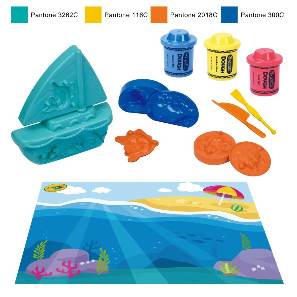 CY120197100000Crayola Dough Playset-Ocean Theme(Large)