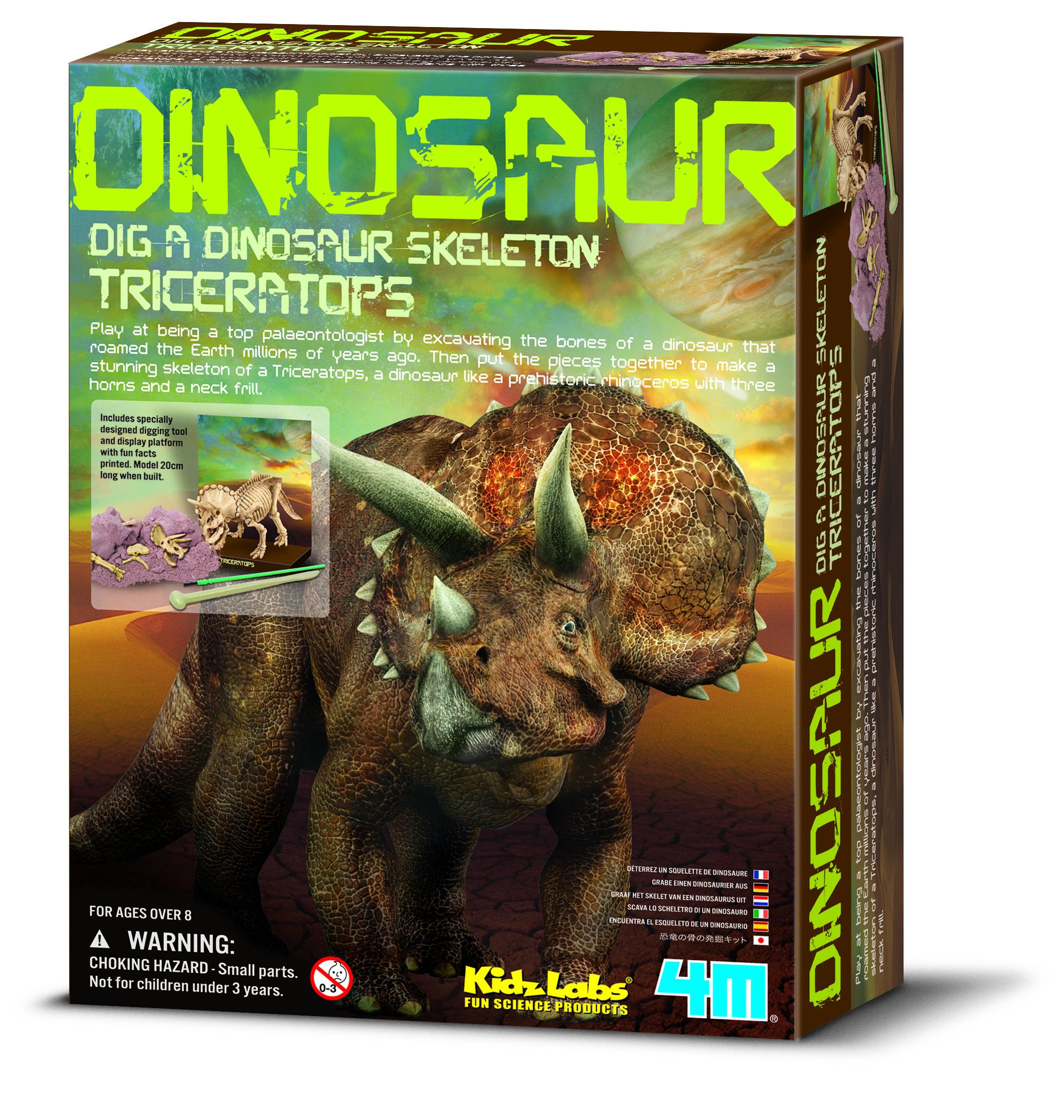 FM120032280000 4M Dinosaur-Dig a Triceratops Skeleton (1)