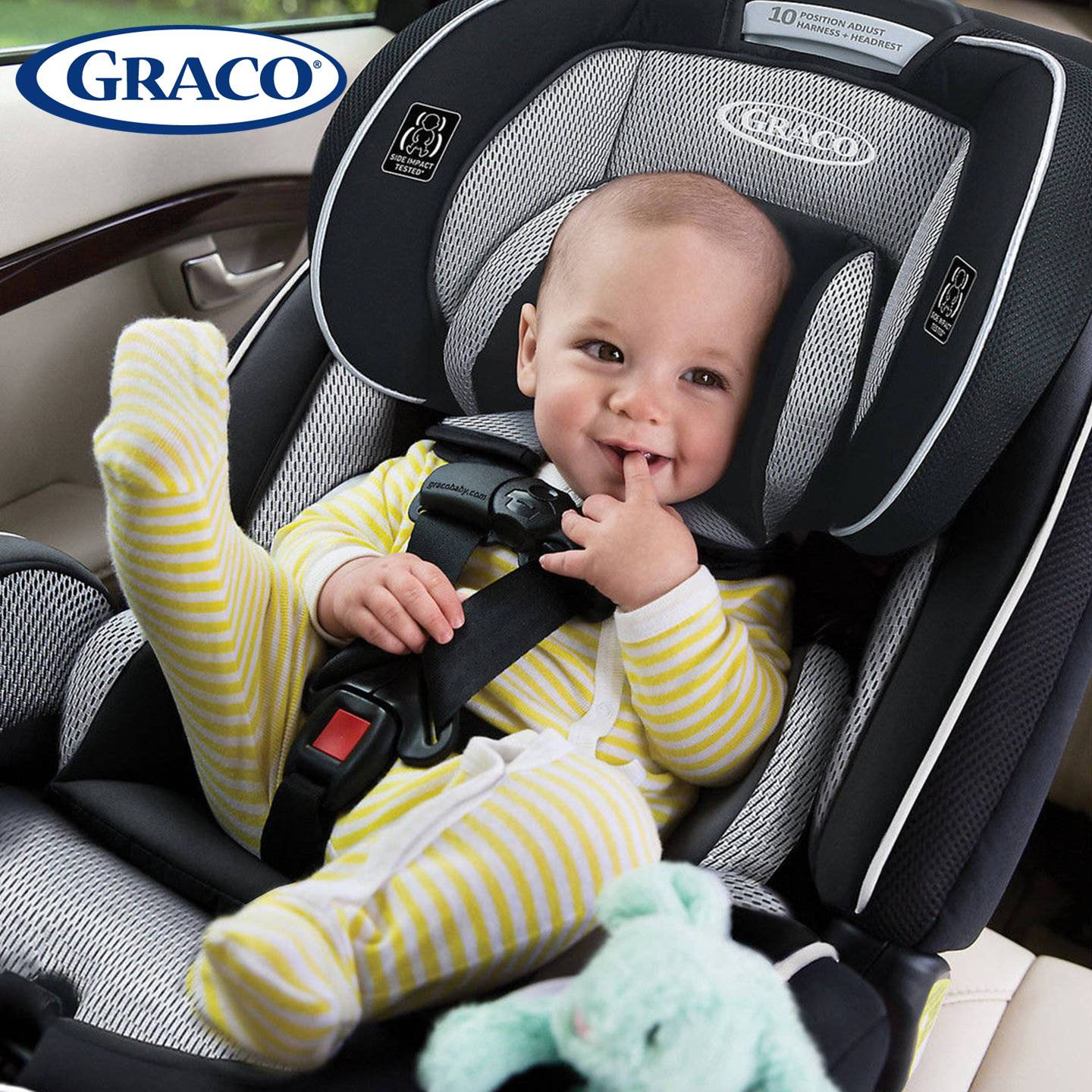 GR4308AH00RCW3 Graco 4Ever All-In-One Car Seat -Rockweave (14)