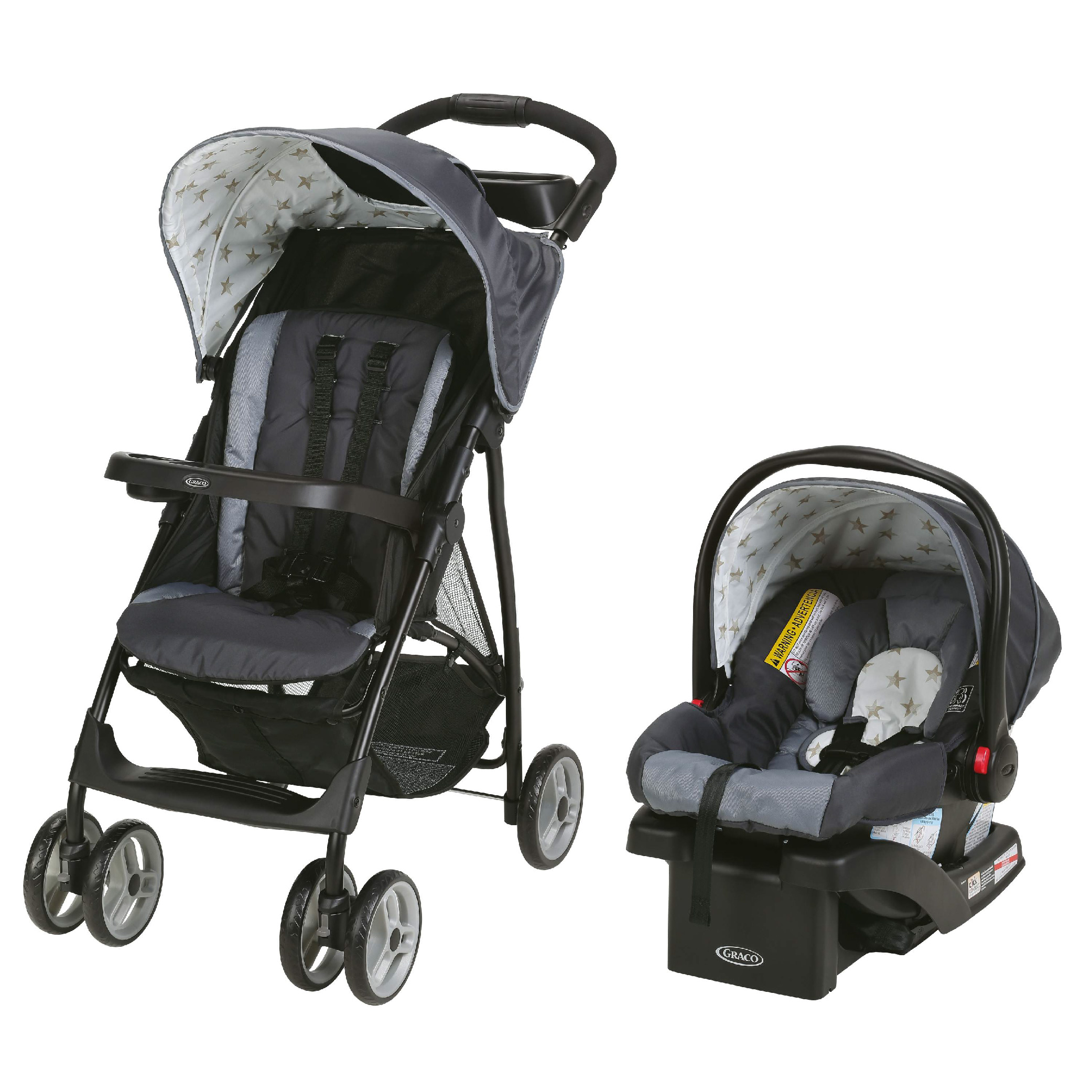 Lot 215_Graco Literider LX Travel System-Brilnt-1