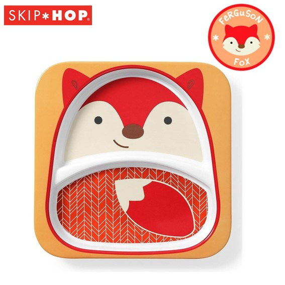 SH210252176000 Skip Hop Zoo Divided Plate Fox Style