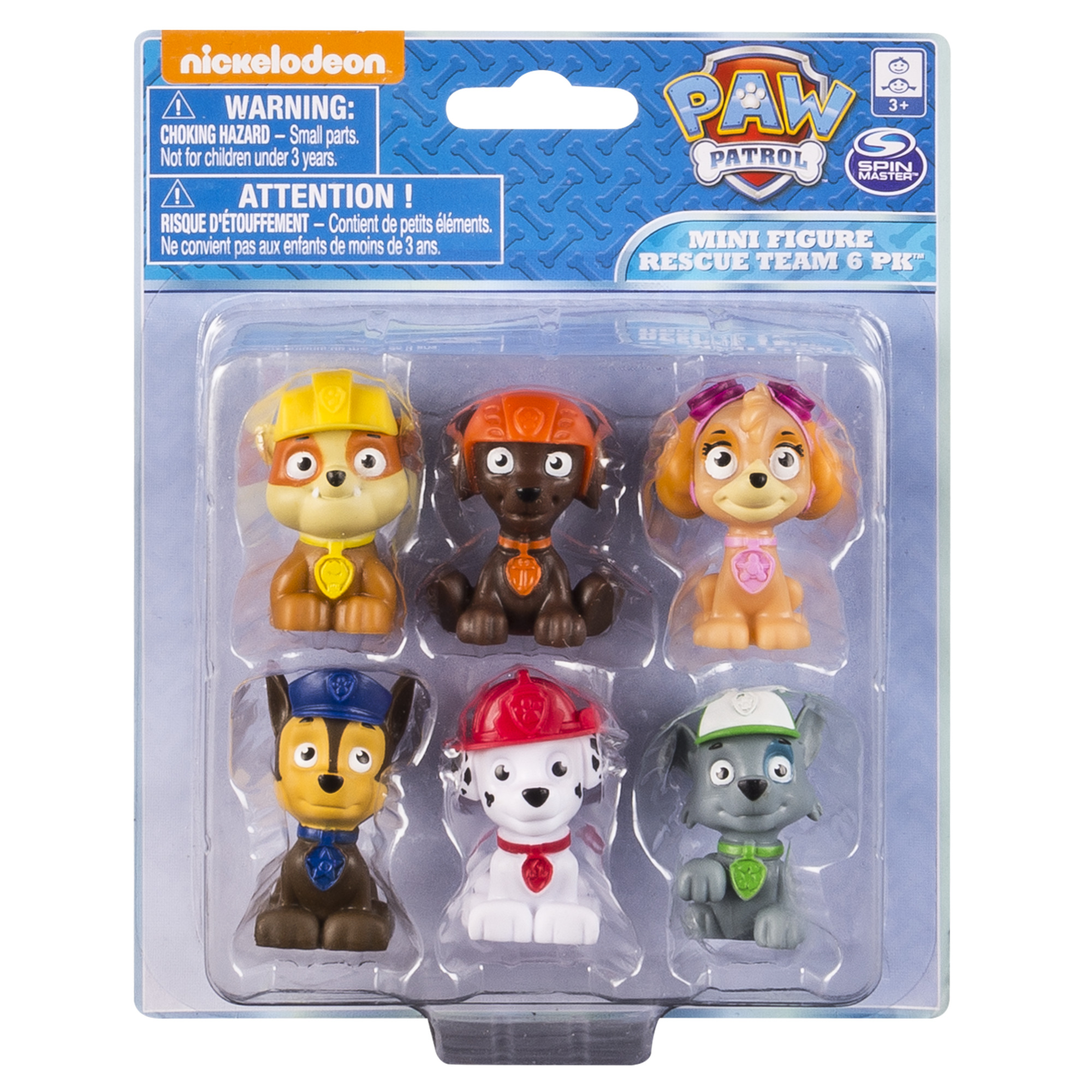 SM120167080000 Paw Patrol Mini Figure Rescue Team 6 Pk